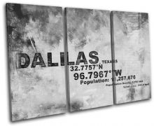 Dallas Texas USA City Typography - 13-2114(00B)-TR32-LO